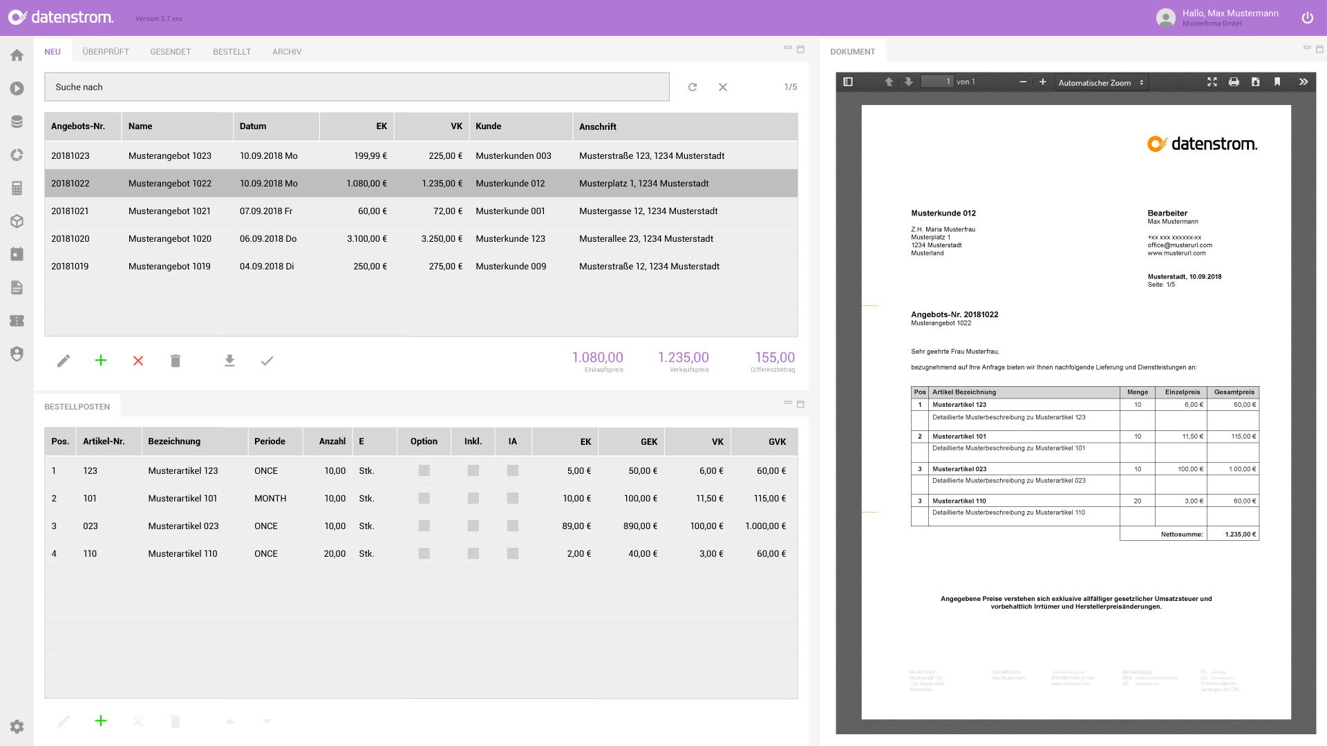 Angebote In Rekordzeit Erstellen Datenstrom